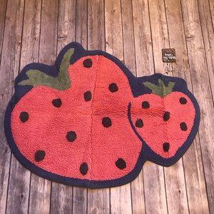 Matilda Jane strawberry bath rug